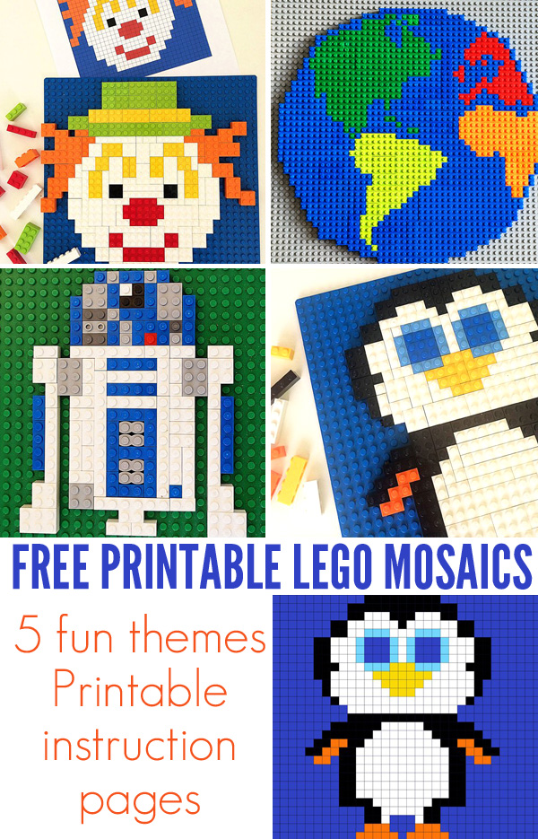 Free Printable Lego Mosaics For Kids