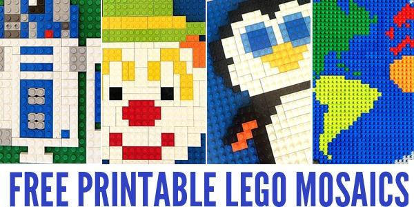 Free Printable Lego Mosaics For Kids Childhood101