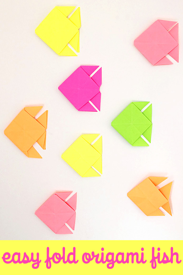 Make a School of Origami Fish: Easy Folding Instructions