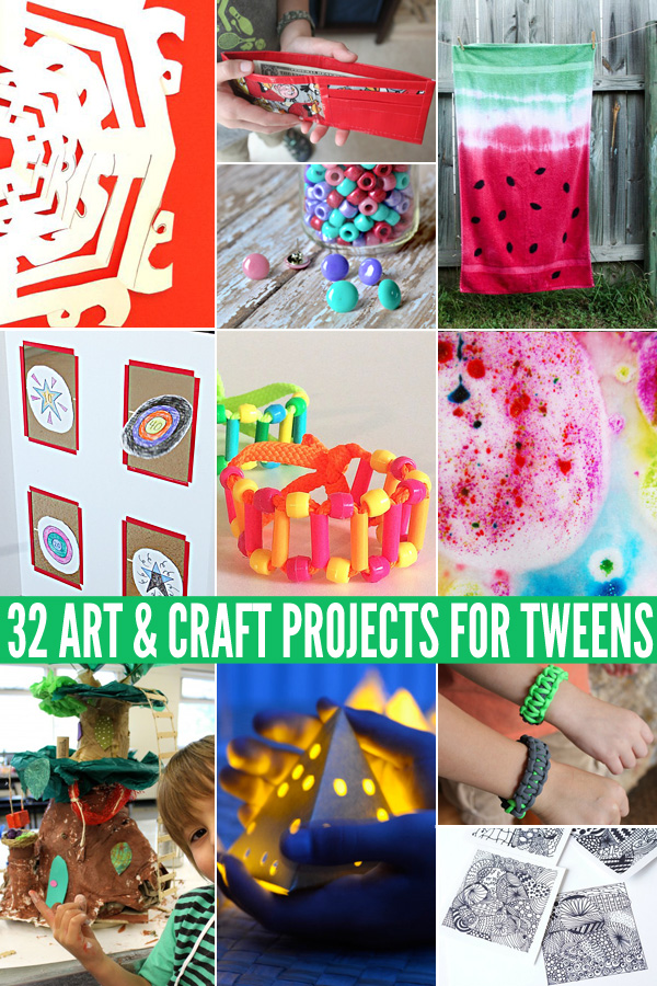 32 awesome art craft projects for tweens childhood101 for 101 crazy crafting ideas