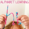 DIY tactile letters for hands on alphabet learning. Great for kindergarten and preschool