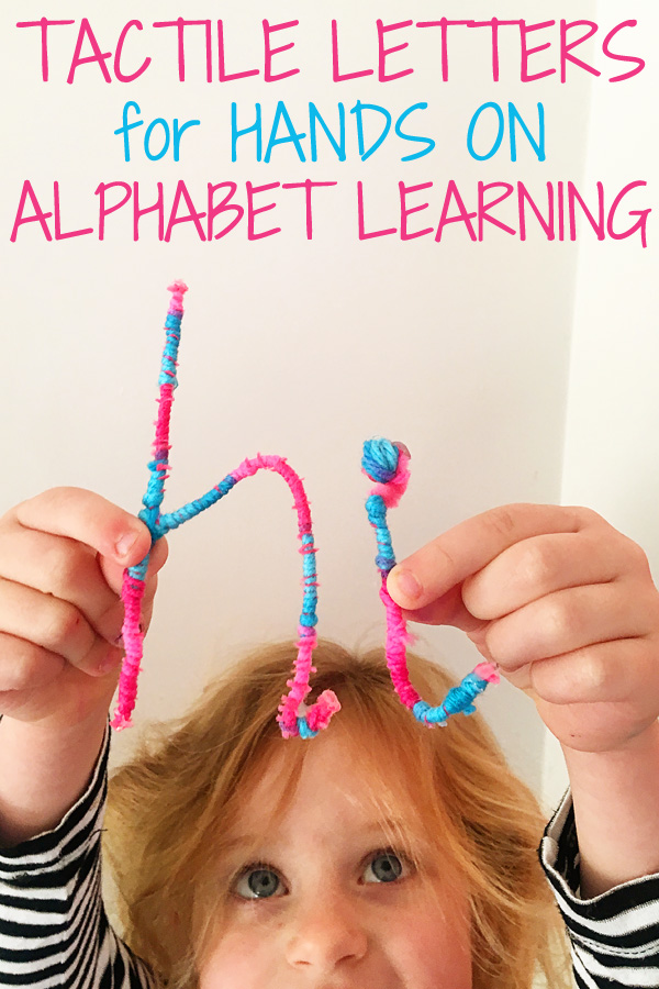 Hands On Alphabet Play: DIY Tactile Letters