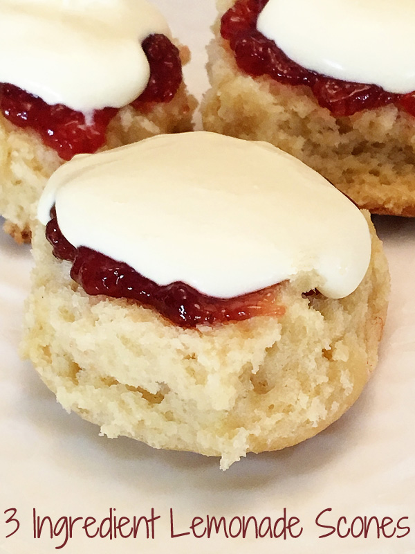 Easy 3 Ingredient Lemonade Scones