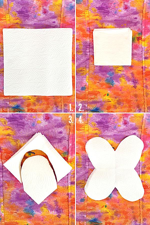 Kids Craft Ideas: Drip Painted Paper Towel Flowers