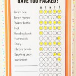 Printable school bag packing list. Get organised for back to school.