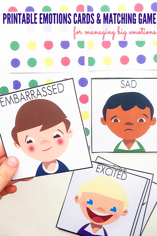 Managing Big Emotions Printable Emotions Cards Matching Game
