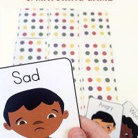 Free printable emotions cards and matching game