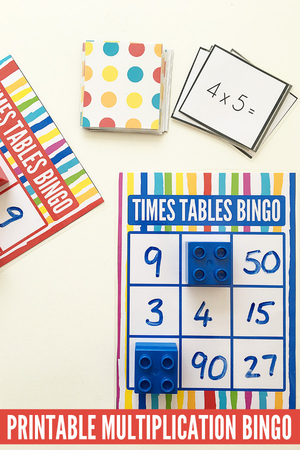 Maths Games for Kids: Times Tables Bingo Free Printable