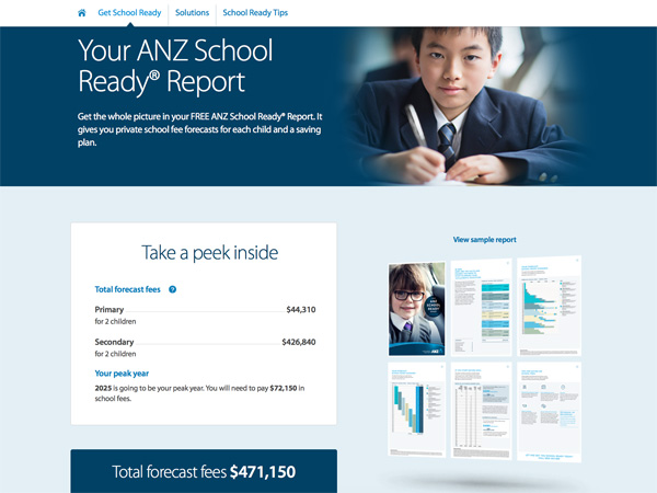 ANZ School Ready website