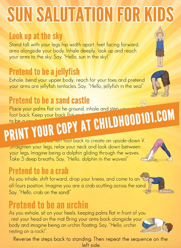 Yoga for Kids: Printable Sun Salutation Sequence