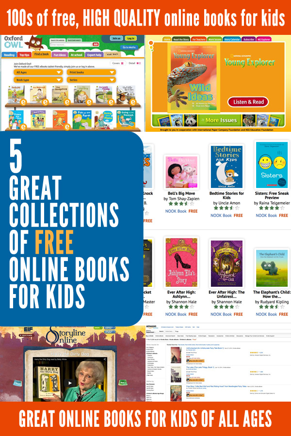 5 Great Collections of Free Online Books for Kids