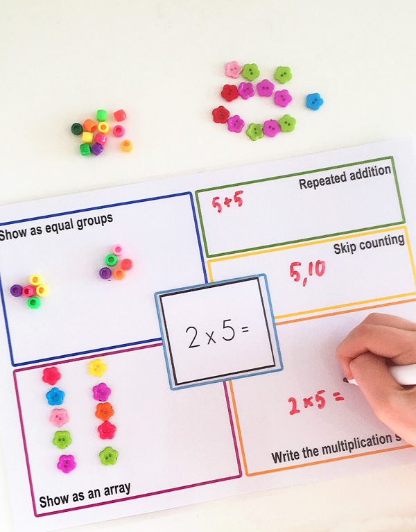Printable Multiplication Strategies Mat