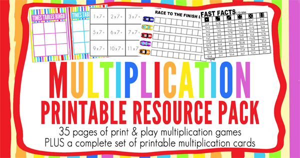 Multiplication Games Printable