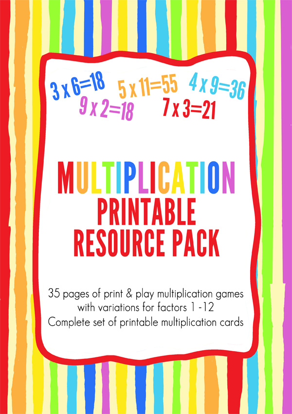 Multiplication game printable pack