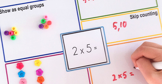Printable Multiplication Strategy Mat Childhood101