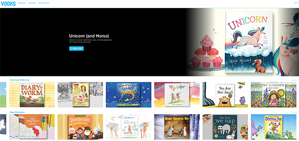 Vooks online kids books