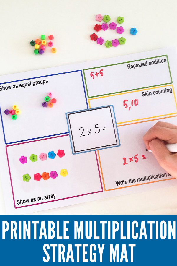 Multiplication strategy mat