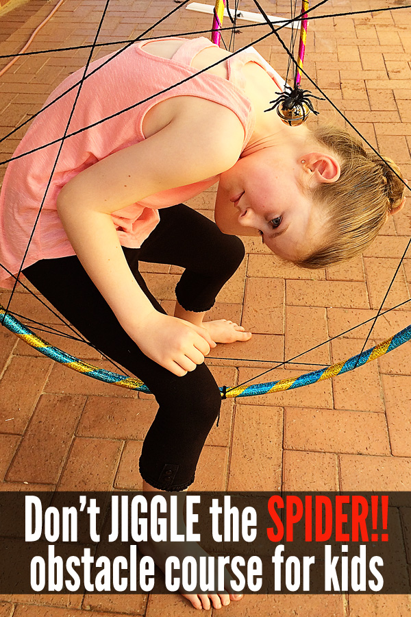 Don't Jiggle the Spiders!! Obstacle Course Fun for Kids