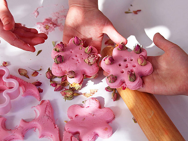Rose Playdough Recipe. Make your next homemade batch of playdough extra special with a rose scent.