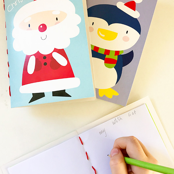 DIY Mini Notebooks from Christmas Cards