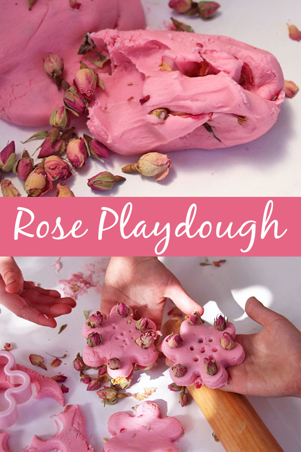 Rose Playdough Recipe. Make your next homemade batch oc playdough extra special with a rose scent.