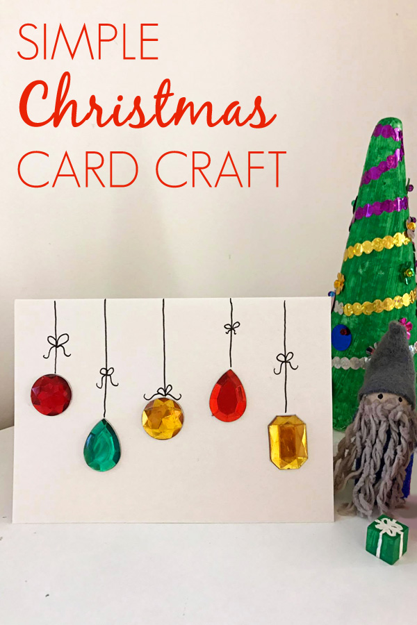 Easy DIY Christmas Card