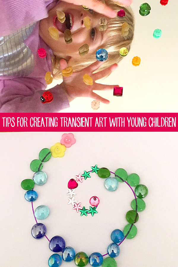 Tips for creating transient art with children