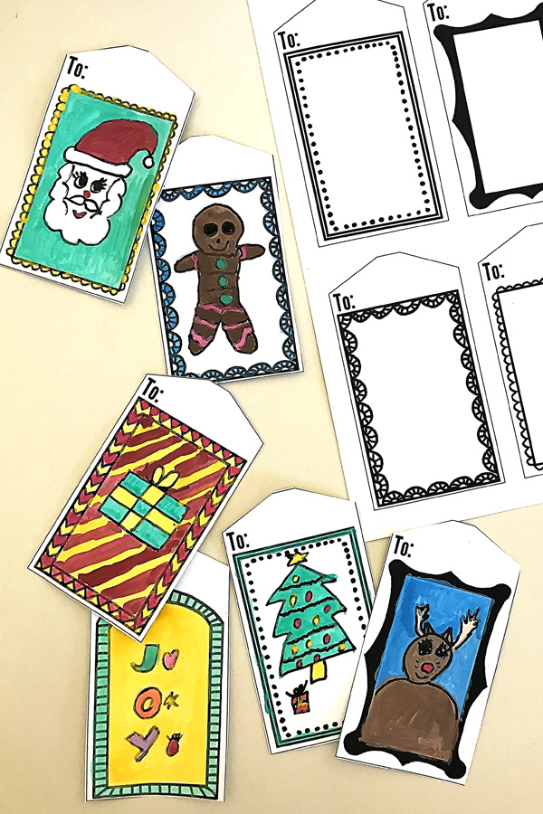 Printable Art Frame Gift Tags