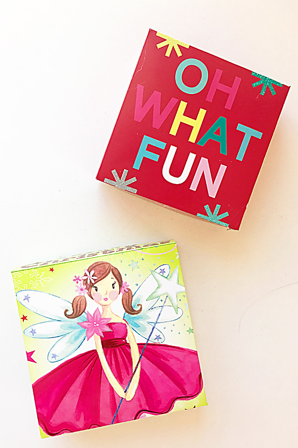 DIY Wrapping! Simple Fold Gift Boxes from Christmas Greeting Cards