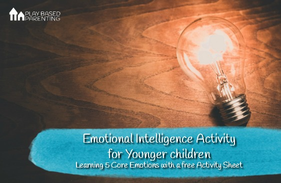Emotional-INtelligence-Activity-for-kids-5-core-emotions-and-activity-sheet