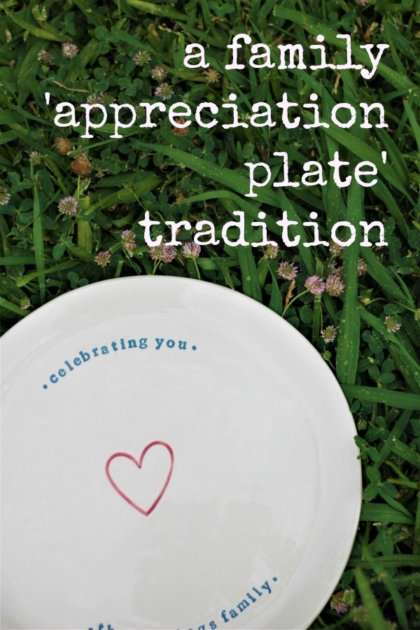 Connecting with kids: A Family Appreciation Plate for Celebrating Family