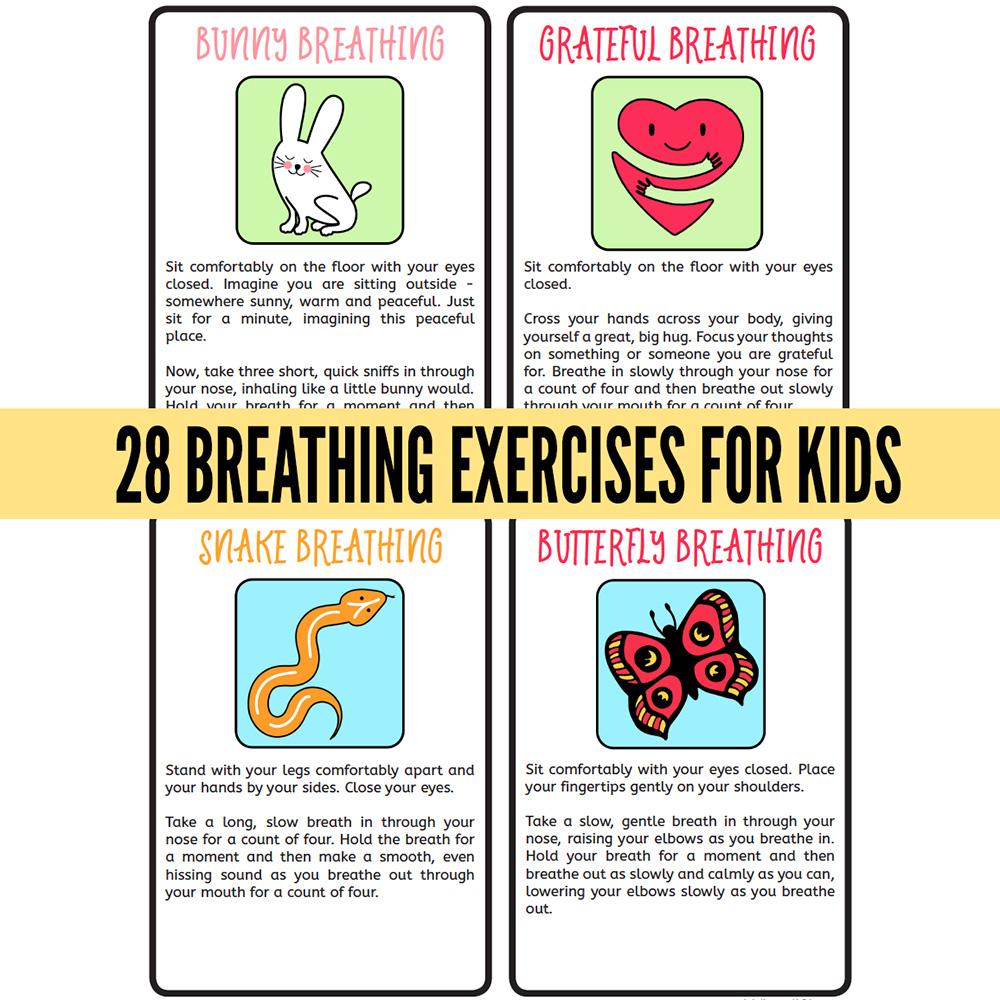 28 Breathing Techniques for Children