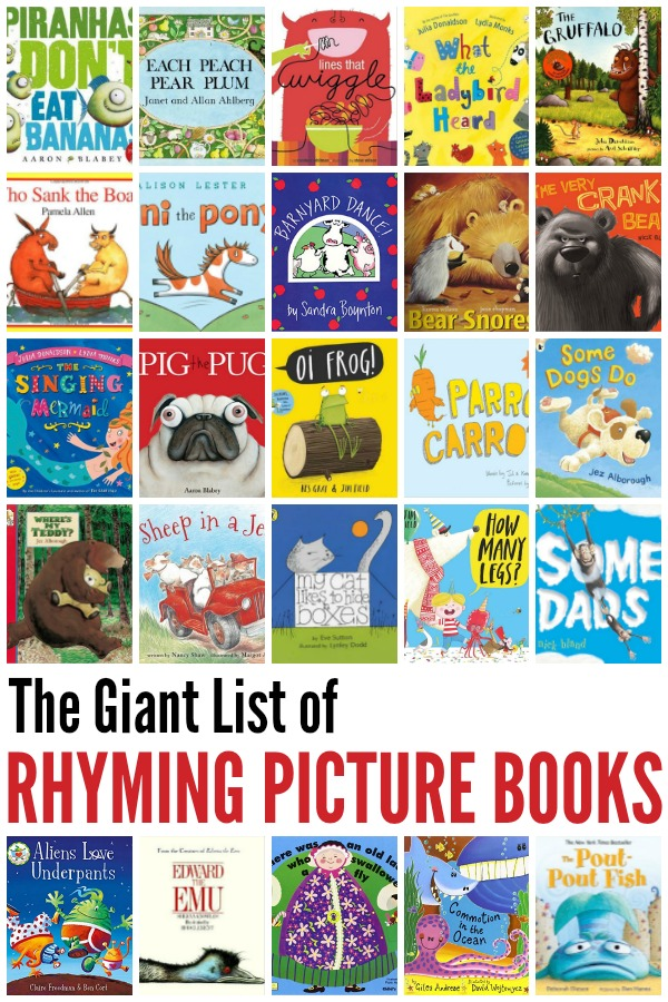 The Great Big List of 55 Rhyming Picture Books for Kids