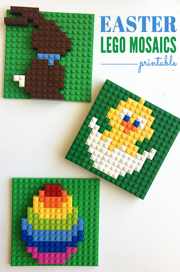 Easter Lego Mosaics Printable Activity for Kids