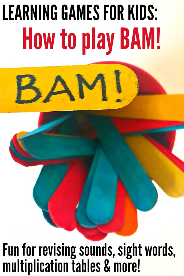 Learning Games for Kids: How to Play BAM!! for sight words, phonics, multiplication tables and more!