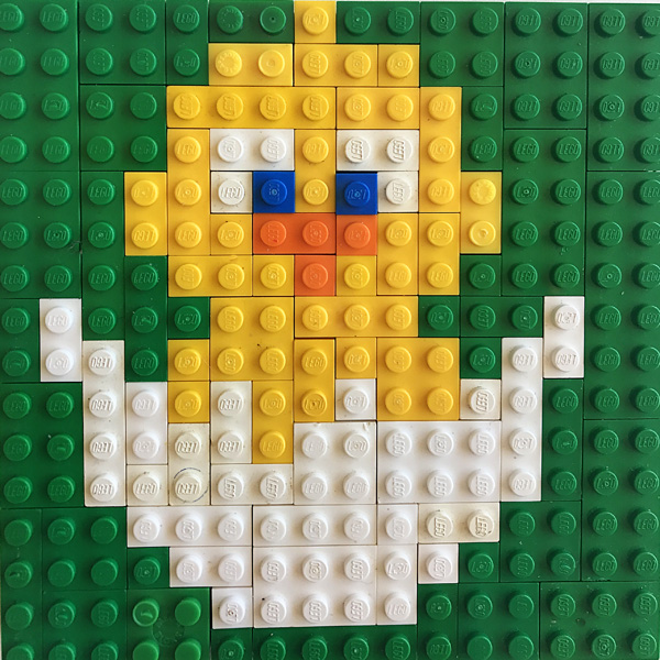 mosaic templates for kids - easter lego mosaics printable