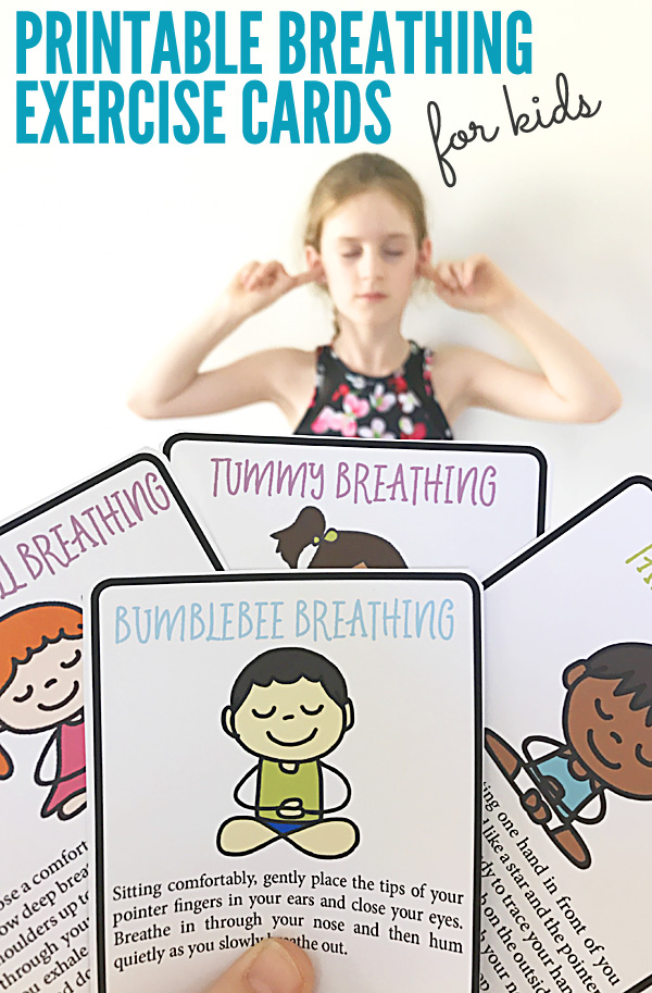 Printable Breathing Exercises for Kids. Free printable activity cards.