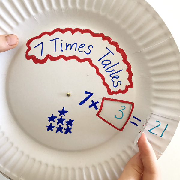 Paper Plate Multiplication Wheel