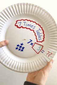 Multiplication Games: Paper Plate Multiplication Wheel