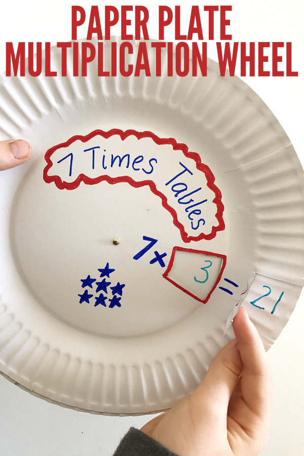 Multiplication Wheel from a Paper Plate
