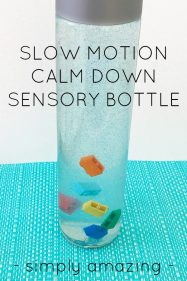 Slow Motion Calm Down Sensory Bottle