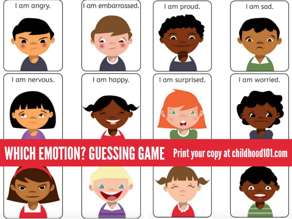 Which emotion? Emotional Intelligence Guessing Game for home or classroom