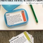 Printable Travel Activity Cards for School Age Kids