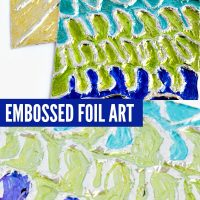 Kids Art Ideas: Sharpie & Foil Embossing