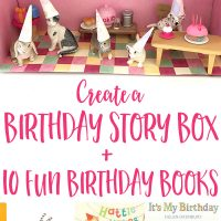 I Love Birthdays Story Box with 10 great birthday themed picture books