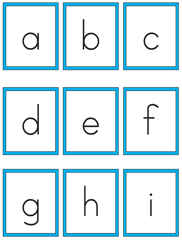 Printable alphabet cards