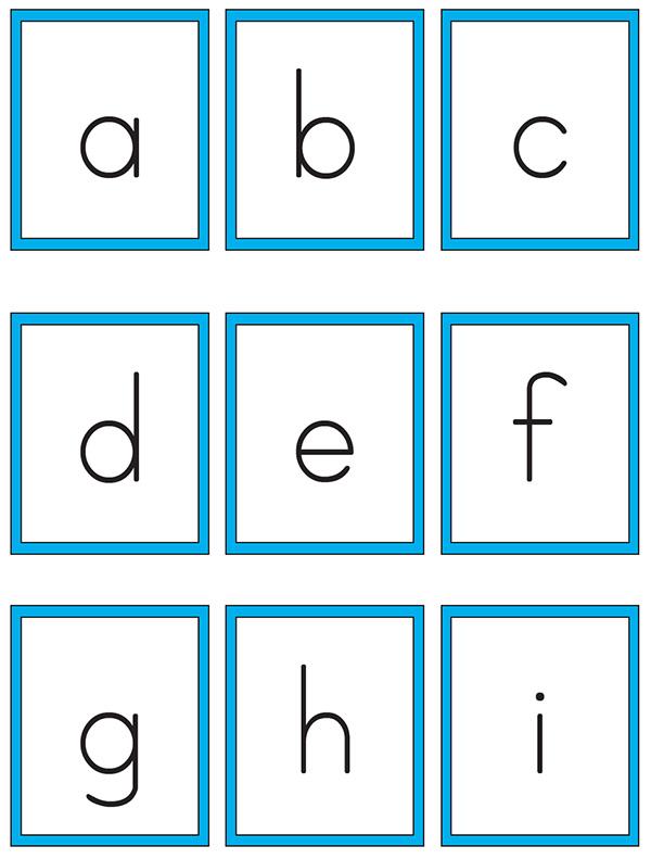 Printable alphabet cards