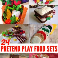 24 Fabulous Handmade Pretend Play Food Sets
