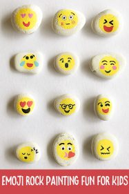 Rock Painting Ideas for Kids: Emoji Rocks
