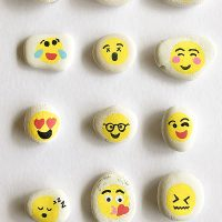 Rock painting ideas for kids - Emoji Rocks!